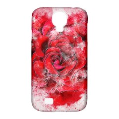 Flower Roses Heart Art Abstract Samsung Galaxy S4 Classic Hardshell Case (pc+silicone) by Nexatart