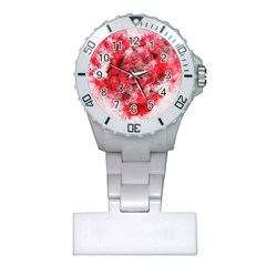 Flower Roses Heart Art Abstract Plastic Nurses Watch