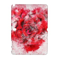 Flower Roses Heart Art Abstract Galaxy Note 1