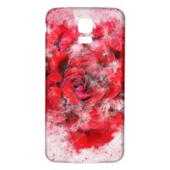 Flower Roses Heart Art Abstract Samsung Galaxy S5 Back Case (white)