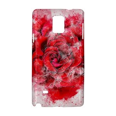 Flower Roses Heart Art Abstract Samsung Galaxy Note 4 Hardshell Case