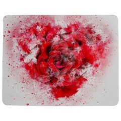 Flower Roses Heart Art Abstract Jigsaw Puzzle Photo Stand (rectangular)