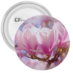 Flowers Magnolia Art Abstract 3  Buttons