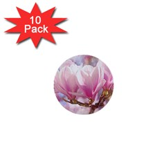 Flowers Magnolia Art Abstract 1  Mini Buttons (10 Pack)