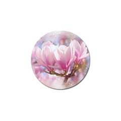Flowers Magnolia Art Abstract Golf Ball Marker (4 Pack)