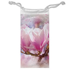 Flowers Magnolia Art Abstract Jewelry Bag