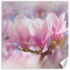 Flowers Magnolia Art Abstract Canvas 12  X 12
