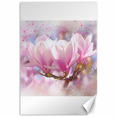 Flowers Magnolia Art Abstract Canvas 12  X 18