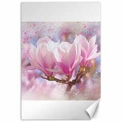 Flowers Magnolia Art Abstract Canvas 20  X 30