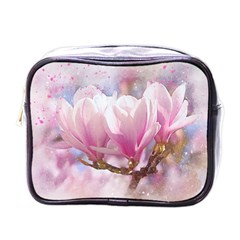 Flowers Magnolia Art Abstract Mini Toiletries Bags