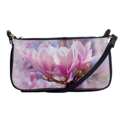 Flowers Magnolia Art Abstract Shoulder Clutch Bags