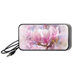Flowers Magnolia Art Abstract Portable Speaker