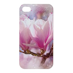 Flowers Magnolia Art Abstract Apple Iphone 4/4s Premium Hardshell Case