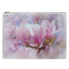 Flowers Magnolia Art Abstract Cosmetic Bag (xxl)