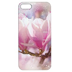 Flowers Magnolia Art Abstract Apple Iphone 5 Hardshell Case With Stand