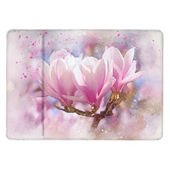 Flowers Magnolia Art Abstract Samsung Galaxy Tab 10 1  P7500 Flip Case