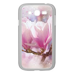 Flowers Magnolia Art Abstract Samsung Galaxy Grand Duos I9082 Case (white)