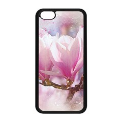 Flowers Magnolia Art Abstract Apple Iphone 5c Seamless Case (black)