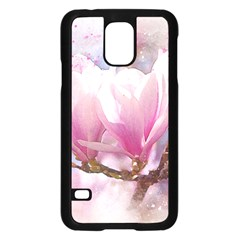 Flowers Magnolia Art Abstract Samsung Galaxy S5 Case (black)