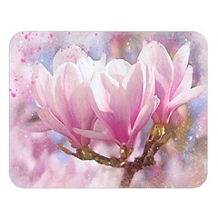 Flowers Magnolia Art Abstract Double Sided Flano Blanket (large)
