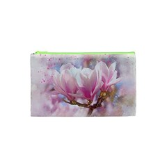 Flowers Magnolia Art Abstract Cosmetic Bag (xs)
