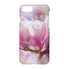 Flowers Magnolia Art Abstract Apple Iphone 8 Hardshell Case