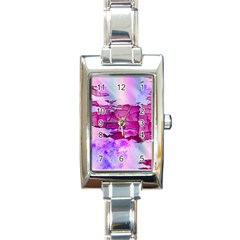 Background Crack Art Abstract Rectangle Italian Charm Watch