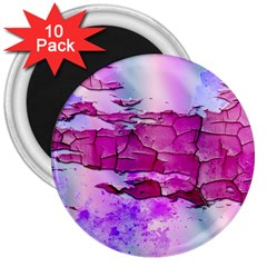 Background Crack Art Abstract 3  Magnets (10 Pack)