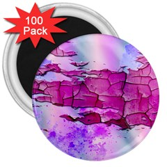 Background Crack Art Abstract 3  Magnets (100 Pack)