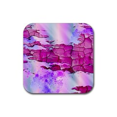 Background Crack Art Abstract Rubber Square Coaster (4 Pack)