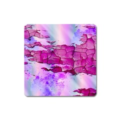 Background Crack Art Abstract Square Magnet