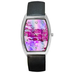Background Crack Art Abstract Barrel Style Metal Watch