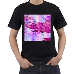 Background Crack Art Abstract Men s T Shirt (black) (two Sided)