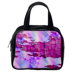 Background Crack Art Abstract Classic Handbags (one Side)