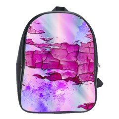 Background Crack Art Abstract School Bag (large)