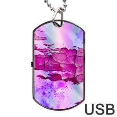 Background Crack Art Abstract Dog Tag Usb Flash (one Side)