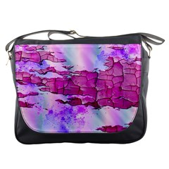 Background Crack Art Abstract Messenger Bags