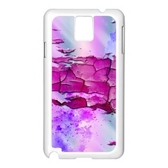 Background Crack Art Abstract Samsung Galaxy Note 3 N9005 Case (white)
