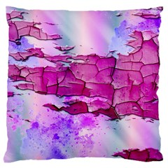Background Crack Art Abstract Large Flano Cushion Case (one Side)