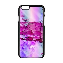Background Crack Art Abstract Apple Iphone 6/6s Black Enamel Case