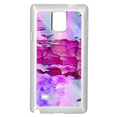 Background Crack Art Abstract Samsung Galaxy Note 4 Case (white)