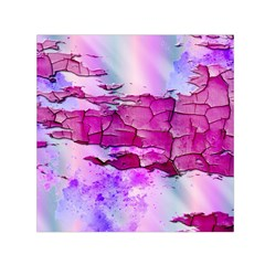 Background Crack Art Abstract Small Satin Scarf (square)
