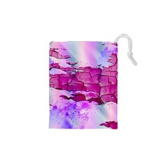 Background Crack Art Abstract Drawstring Pouches (xs)
