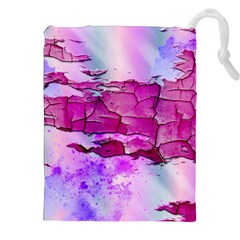 Background Crack Art Abstract Drawstring Pouches (xxl)