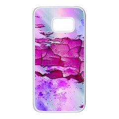 Background Crack Art Abstract Samsung Galaxy S7 White Seamless Case