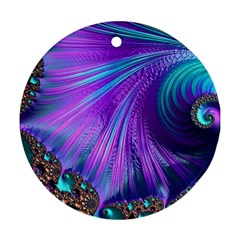 Abstract Fractal Fractal Structures Ornament (round)