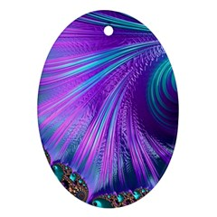 Abstract Fractal Fractal Structures Ornament (oval)