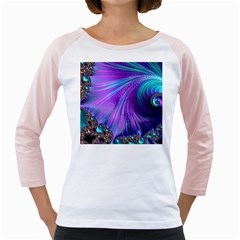 Abstract Fractal Fractal Structures Girly Raglans