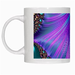 Abstract Fractal Fractal Structures White Mugs by Nexatart