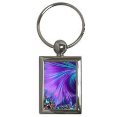 Abstract Fractal Fractal Structures Key Chains (rectangle)